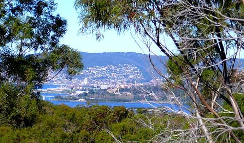 View towards Hobart from Zinc Walks