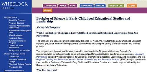 Wheelock College, Early Childhood Educational Studies and Leadership