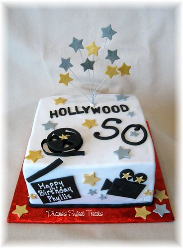 hollywood theme cake for 50th birthday