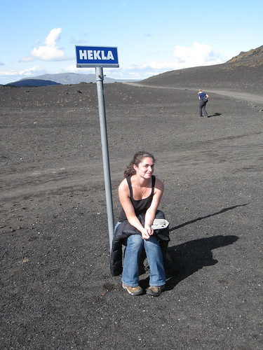 Photo op at Hekla