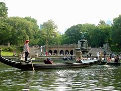 Gondola on The Lake near Bethesda Terrace - Central Park (Jim Lambert) Tags: nyc newyorkcity trees usa ny newyork green wate