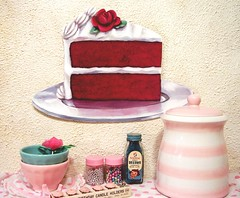 "NEW Jumbo Original Art diecut ""red velvet cake"""