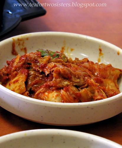Chokingly spicy kimchi
