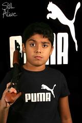 puma (Still Alive ..) Tags: family boy portrait home digital canon studio eos rebel angry kuwait puma q8 xti 400d moiq8 7awajib