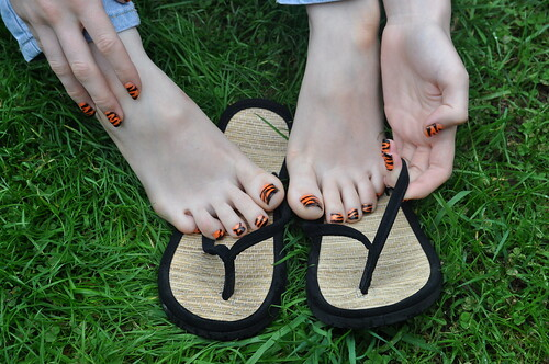 Tiger Toes in the Grass