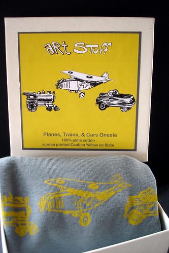 Planes, Trains, & Cars Onesie