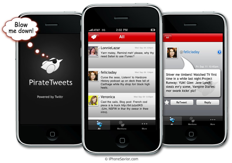 Pirate Tweets iPhone App
