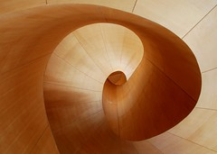 Look up. (gardinergirl) Tags: wood toronto architecture stairs spiral wooden smooth staircase ago swirl curve frankgehry douglasfir artgalleryofontario 18200mm