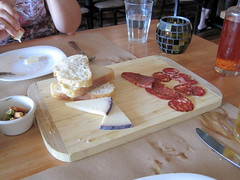 Salami and cheese plate at Diavola (ccalcaterra) Tags: california rodeobeach geyserville