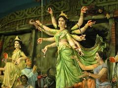 Goddess Durga Idol at Mohd.AliPark Durga puja 2009 Pandal at Kolkata,WestBengal, India (kaipukur) Tags: carnival india beautiful festival goddess idol kolkata durga durgapuja bengali marvellous westbengal urvision mohdalipark