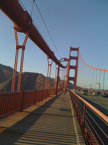 View of Golden Gate from Bike Paths