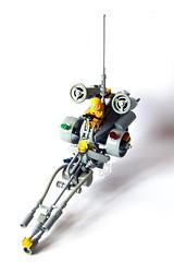 "LSB 23 - NCS ""LL179"" (Chiefrocker9000) Tags: bike lego space neo futuristic speeder lsb glug moc ncs speederbike legospace classicspace neoclassicspace ll179 swisslug legospeederbike lsb23"