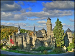 Mrchenburg - Fairy tale castle. (Haldorfer) Tags: park city travel autumn vacation fall tourism architecture fairytale germany season deutschland holidays cityscape hessen urlaub herbst jahreszeit ruin medieval ruine fantasy stadt architektur chateau allemagne ferien soe freizeit hdr germania tourismus burg reise kassel mrchen hesse wilhelmshhe kurfrst elector burgruine stadtansicht sehenswrdigkeit bergpark lwenburg naturesfinest herbststimmung herbstfarben photomatix wasserspiele nordhessen herbstzauber supershot landgraf lionscastle mywinners abigfave goldenbee platinumphoto anawesomeshot colorphotoaward flickrdiamond platinumheartaward landgrave doublyniceshot doubleniceshot tripleniceshot dblringexcellence tplringexcellence haldorfer jrgenkrug eltringexcellence rememberthatmomentlevel1 rememberthatmomentlevel2