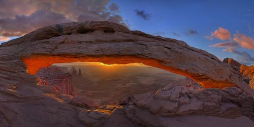 フリー写真素材, 自然・風景, 谷, 岩山, キャニオンランズ国立公園, アメリカ合衆国, ユタ州, パノラマ, HDR,