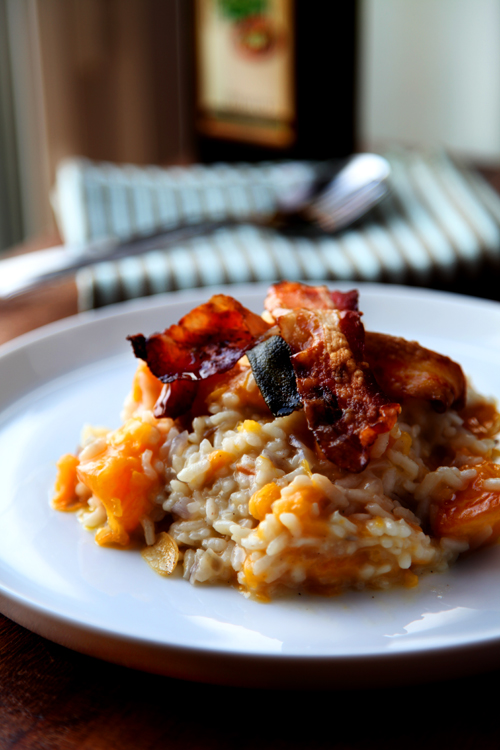 :: Pumpkin and Crispy Pancetta Risotto