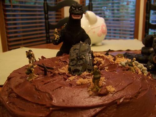 1 Godzilla Birthday Cake