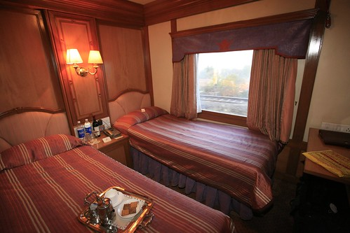The Indian Maharaja, Deccan Odyssey - twin bed deluxe cabin