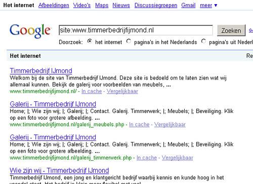 Google combineert H1 header en Title in zoekresultaten