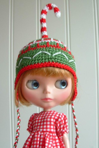 Blythe Hat CandyCane by TeenyWeenyDesign/Adrianne