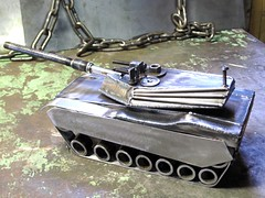 M1 Abrams Tank Metal Sculpture