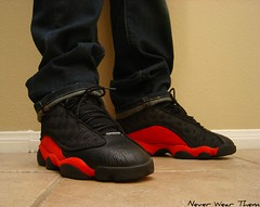 Jordan XIII (Never Wear Them) Tags: red black true cat michael cool shoes air nike jordan 13 bred xiii