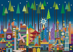 2009-11-18_world_city_holiday_card (coleypauline) Tags: holiday illustration design graphicdesign holidays vectorart wordpress awesome illustrator vector byme holidaycard coley notchristmas worldcity nicolewopperer coleywopperer internationalcoleyofmystery