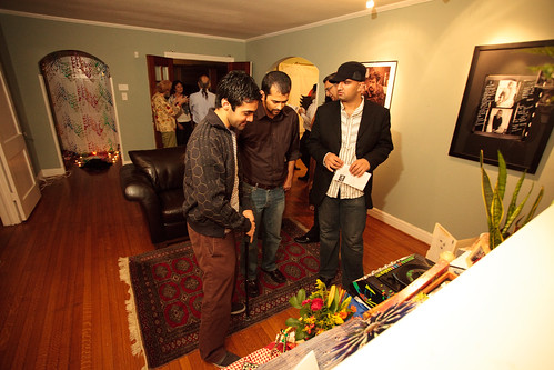 Faroukh Virani and friends admiring the altar