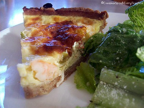 Shrimp & Green Chile Quiche