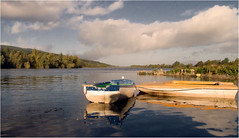 DSCF6396 - The Suir at Fiddown (Patrick_Foto) Tags: kilkenny ireland color colour clouds reflections landscape boats earlymorning naturallight finepix tipperary waterford s100fs fortheloveofireland patrickfoto