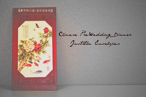 Incidently my Chinese prewedding invitation card that features a