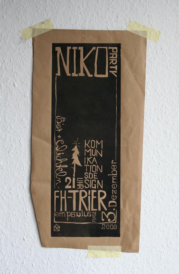 linoldruck poster
