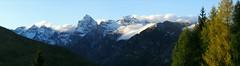 Pflerschtal - Panorama mit Tribulaun (mikiitaly) Tags: schnee panorama snow fall rocks herbst wolken casio neve autunno exilim soe südtirol altoadige felsen dolomit potofgold tribulaun klouds colorphotoaward absolutelystunningscapes valdifleres exfh20 herrbst plerschtal