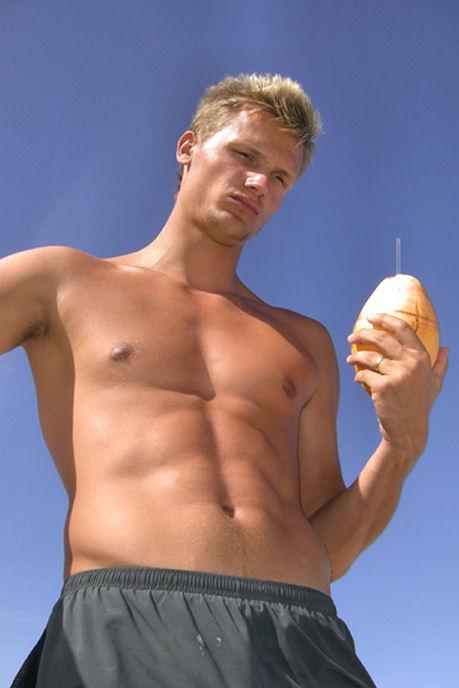 Pascal Behrenbruch shirtless