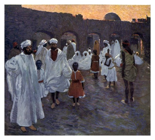 028-Mercado de esclavos en Marruecos-Morocco 1904- Ilustraciones de A.S. Forrest