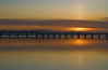Light Pillar above The Tay (corinne mills) Tags: bridge sunset scotland fife dundee tay gloaming