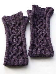 A Pair (chavala) Tags: knitting cables mitts asm sundara knitbest