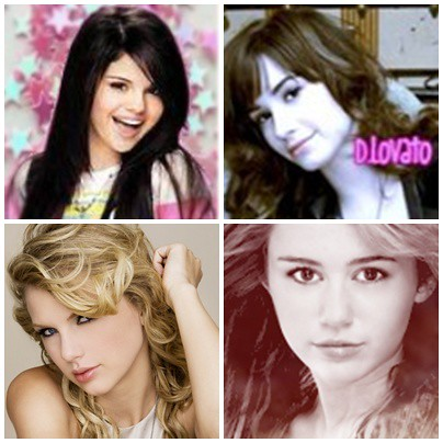 selena gomez and demi lovato and taylor swift. DEMI,MILEY,SELENA,TAYLOR SWIFT