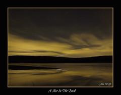 A shot in the dark (John B G catching up :- )) Tags: longexposure reflection night scotland shootingstars carronvalleyreservoir scottishwater kilsythhills fujifinepixs100fs