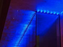 showtime (werewegian) Tags: blue reflection lines architecture lights scotland office glasgow indigo block day349 dec09 werewegian photoaday2009