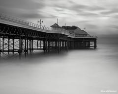One Pier Imported (Silver Doctor) Tags: longexposure england blackandwhite pier norfolk cromer seleniumtoned nd110 10stopfilter