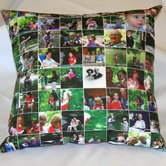 Photo pillow on linen-cotton