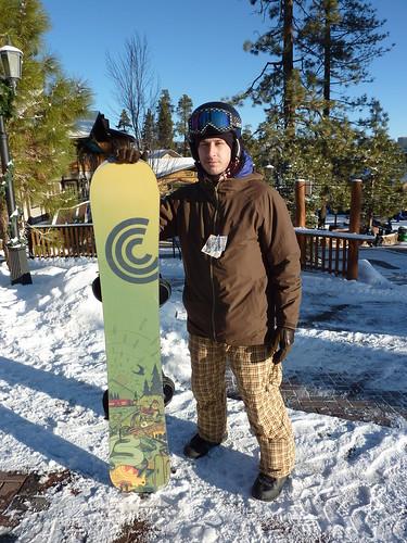 Dan the championship snowboarder