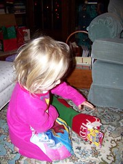 Q3 opens her stocking