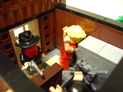 Wild West Bank Robbery (6) (DarthNick) Tags: wild west lego contest group bank robbery brickarms