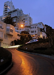 Lombard Street. , Wet () Tags: sf sanfrancisco street city houses light party wet calle bricks thecity corso valentines soire lombardst crooked lombard crookedstreet sfist lombardstreet  happyvalentines brickroad brickpath saofrancisco brickstreet windyroad valentinesdayweekend happyvalentinesday