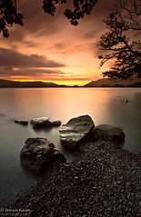 Endless Deep (.Brian Kerr Photography.) Tags: sunset sky motion colour tree clouds canon u2 landscape nationalpark rocks darkness smooth lakes lakedistrict pebbles cumbria derwentwater keswick cumbrian eos5dmkii endlessdeep briankerrphotography