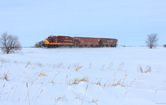The Warroad Local at Milepost 15 (bkays1381) Tags: minnesotanorthern mnn mnnwarroadlocal mnnwarroadsubdivision sainthilaire minnesota mnn1383 winter