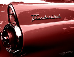 Thunderbird (Angiezpics) Tags: red classic ford car ride sweet antique clean thunderbird taillight tbird backtothe50s somethingdifferentfromme