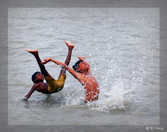 Joy of ChiLdHooD ((_.*`*.ChobiWaLa.*`*._)) Tags: water childhood swimming swim river fun kid jump bath child action joy bangladesh padma mawa pervez munshiganj hrizoo