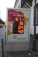 BUGA-Uhr (onnola) Tags: clock koblenz uhr buga bundesgartenschau nationalgardenshow buga2011 bundesgartenschau2011